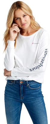 Vineyard Vines Womens Long-Sleeve Breast Cancer Awareness Logo Tee