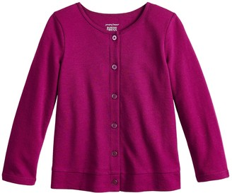 Toddler Girl Jumping Beans Button-Up Knit Cardigan