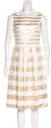 LK Bennett Metallic Stripe Midi Dress w/ Tags