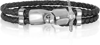 Forzieri Vespa Brass and Leather Men's Bracelet