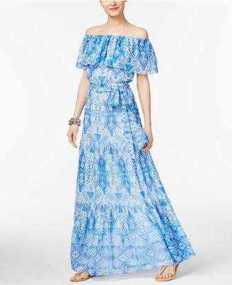 INC International Concepts Off-The-Shoulder Maxi Dress, Only at Macy's $159.50 thestylecure.com