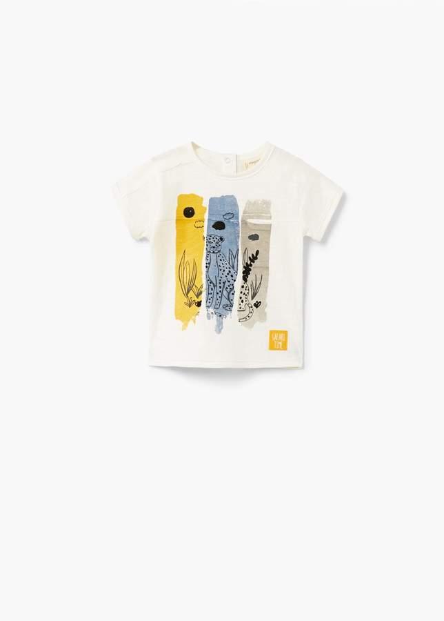 Bedrucktes T-Shirt mit Tasche