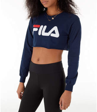 5a3539226e67 Fila Women's Colette Long-Sleeve Crop T-Shirt