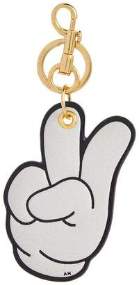 Anya Hindmarch Mickey Victory Leather Keyring