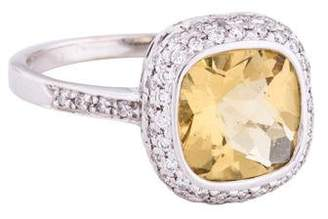 Ralph Lauren K 18K Heliodor & Diamond Cocktail Ring