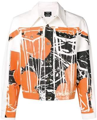Calvin Klein abstract denim jacket