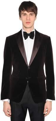 DSQUARED2 London Velvet Jacket W/ Satin Lapels