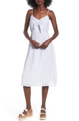 Women's Lush Front Tie Dress $49 thestylecure.com