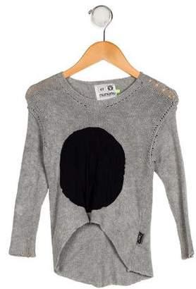 Nununu Girls' Patterned Knit Sweater