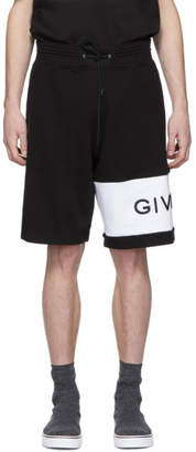 Givenchy Black Embroidered Logo Shorts