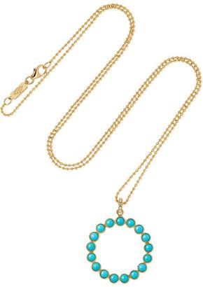 Jennifer Meyer 18-karat Gold Turquoise Necklace