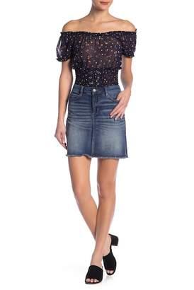 Banjara Frayed Denim Mini Skirt