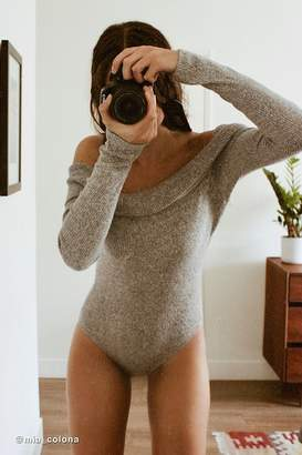 Out From Under Anna Ribbed Off-The-Shoulder Bodysuit