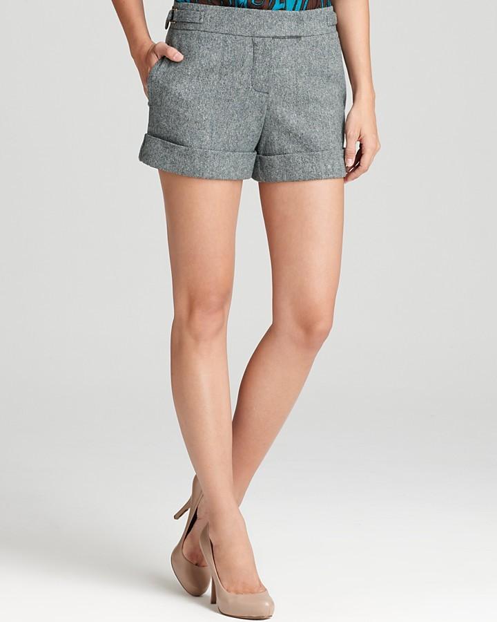Trina Turk Shorts - Ithica Windsor Tweed