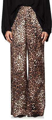 Nili Lotan Women's Vivianna Leopard-Print Silk Pants