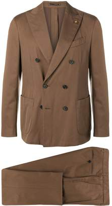 Lardini double breasted suit jacket