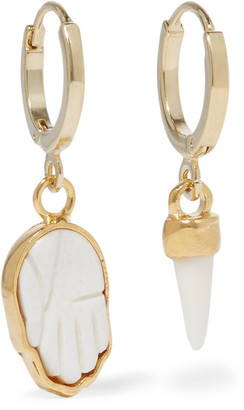 Isabel Marant - Gold-tone Bone Earrings - one size $80 thestylecure.com