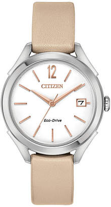 DRIVE FROM CITIZEN ECO-DRIVE Drive from Citizen Womens Pink Strap Watch-Fe6140-03a