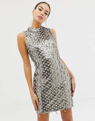 French Connection teardrop embellished bodycon dress