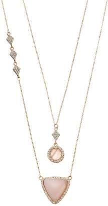 Loli Bijoux LOLI BIJOUX Breast Cancer Awareness Pink Geometric Necklace Set