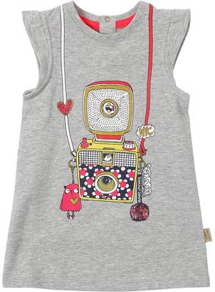 Little Marc Jacobs Sleeveless Cotton Sweatshirt Dress