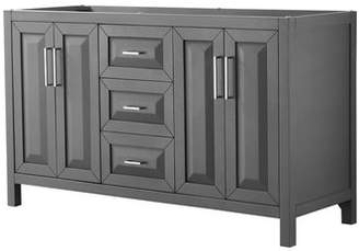 """Wyndham Collection Daria 59"""" Double Bathroom Vanity Base Only Base"""