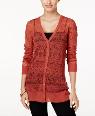 Cupio Pointelle-Knit Cardigan $60 thestylecure.com