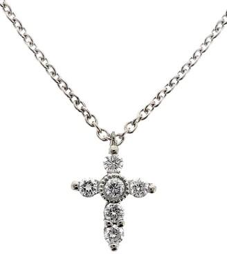 Bony Levy Diamond Mini Cross Necklace
