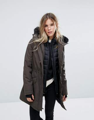UGG Adirondack Parka With Removable Toscana Faux Fur Trim