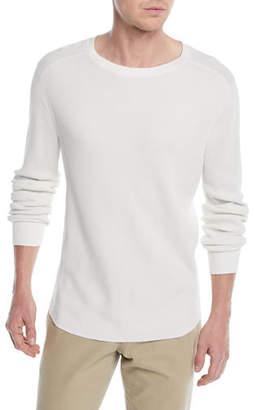 Vince Men's Waffle-Knit Long-Sleeve T-Shirt
