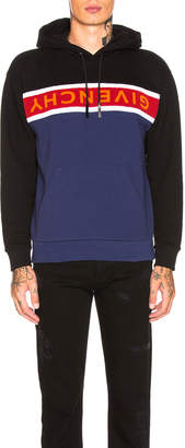 Givenchy Towel Logo Hoodie in Black & Blue | FWRD