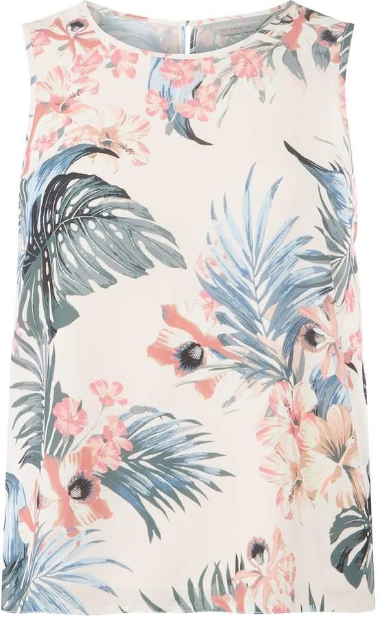 Dorothy Perkins Petite Blush Tropical Top