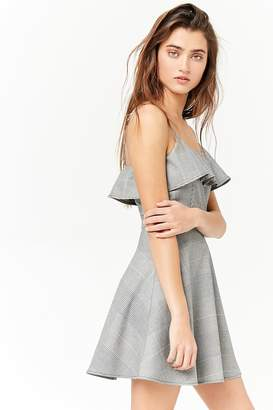 Forever 21 Glen Plaid Flounce Skater Dress