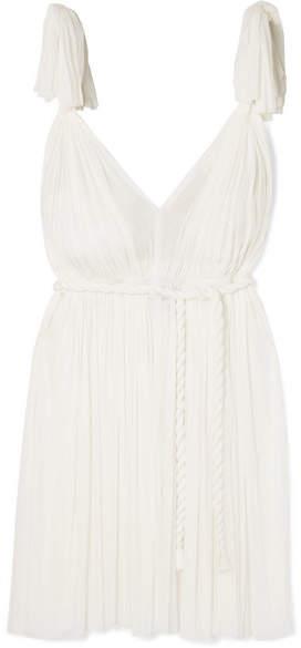Elena Makri - Daphne Pleated Silk-tulle Mini Dress - White