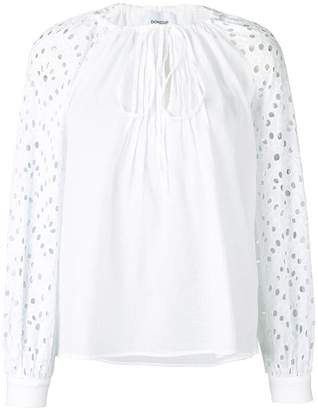 Dondup embroidered sleeves blouse