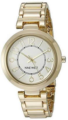 Nine West 1892SVGB Two-Tone Stainless Steel Bracelet Strap Watch
