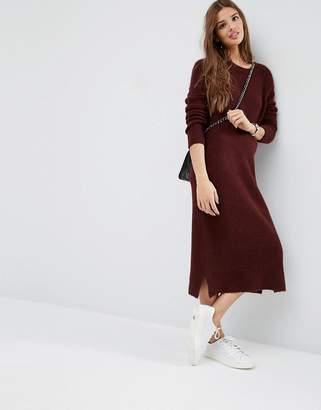 Asos DESIGN Midi Sweater Dress in Wool Mix Yarn