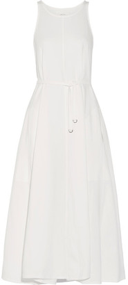 Lemaire - Belted Cotton-jersey Midi Dress - White $330 thestylecure.com