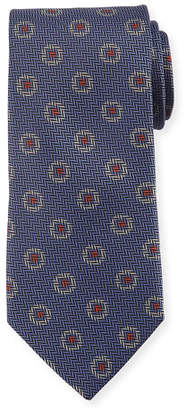 Canali Tossed Pines Silk Tie, Gray