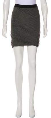 Alexander Wang Asymmetrical Knee-Length Skirt Grey Asymmetrical Knee-Length Skirt