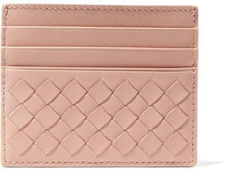 Bottega Veneta Intrecciato Leather Cardholder - Antique rose