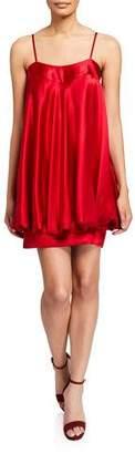 Jovani Satin Bow-Back Short Bubble Dress