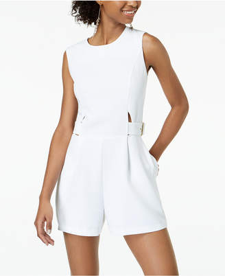 XOXO Juniors' Sleeveless Cutout Romper
