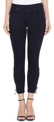 Liverpool Alyssa Crop Skinny Jeans in Black Rinse