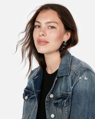 Express Sparkly Stone Cluster Drop Earrings
