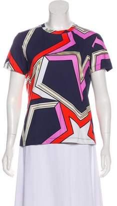Mary Katrantzou Printed Short Sleeve Top w/ Tags
