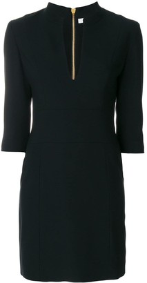 Pierre Balmain fitted v-neck dress