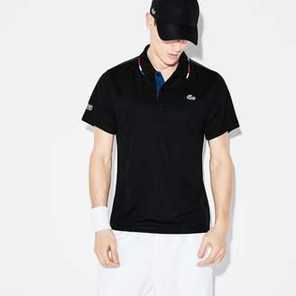 Lacoste Men's SPORT Piped Pique Tennis Polo