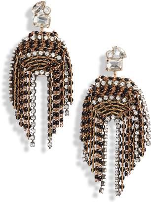 Serefina Fringe Statement Earrings
