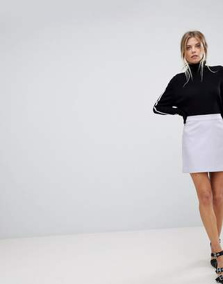 Oasis Faux Leather A Line Mini Skirt